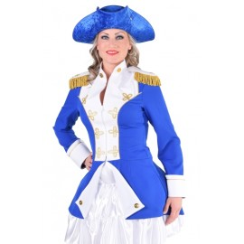 Déguisement officier de la garde bleu cobalt femme luxe