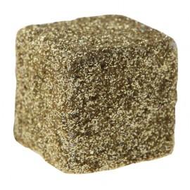 Cubes pailletés or 1 cm les 50
