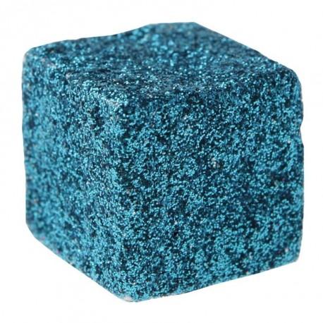 Cube pailleté turquoise les 50