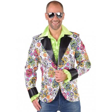 Déguisement veste mexican skull homme luxe