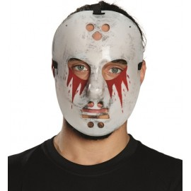 Masque hockey avec sang adulte Halloween