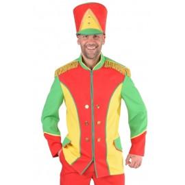 Déguisement veste harmonie rouge jaune vert homme luxe