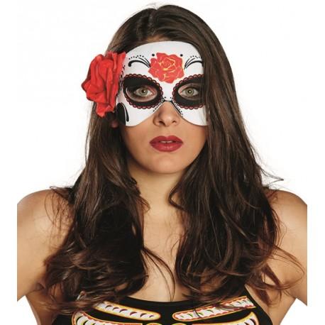 Demi masque La Catrina Dia de los muertos femme
