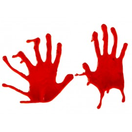 Décoration mains ensanglantées Halloween
