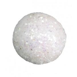 Mini boules pailletées blanches les 50