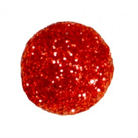 Mini boule pailletée rouge les 50