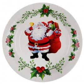 Assiette carton Joyeux Noël 22.5 cm les 10