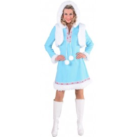 Déguisement esquimau des glaces femme ice blue luxe