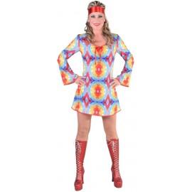 Déguisement 70's hippie batik femme luxe