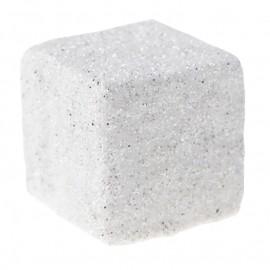 Cubes pailletés blancs les 50