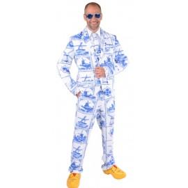 Déguisement costume Hollandais Bleu de Delft homme luxe