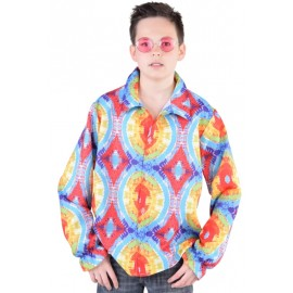 Déguisement chemise hippie batik enfant