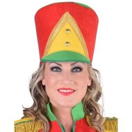 Chapeau harmonie rouge jaune vert femme luxe
