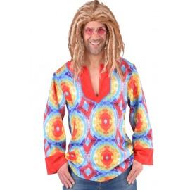 Déguisement chemise hippie batik homme 70's luxe