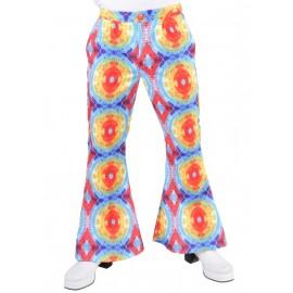 Déguisement pantalon hippie batik homme luxe