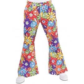 Déguisement pantalon hippie smile homme luxe