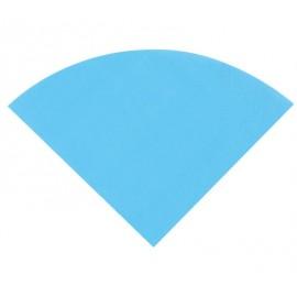 Serviette de table ronde en papier turquoise les 20