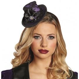 Mini chapeau gothique femme