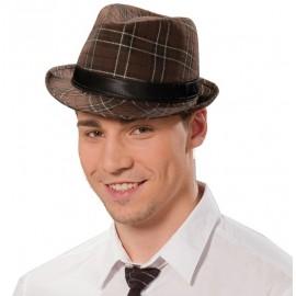Chapeau borsalino brun adulte