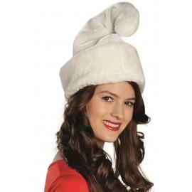 Bonnet de nain blanc adulte luxe