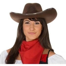 Chapeau cowboy brun adulte