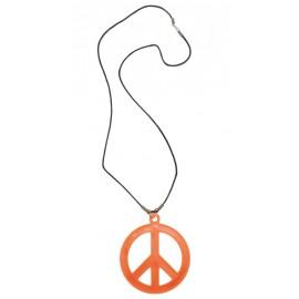 Collier hippie orange adulte