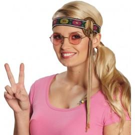 Bandeau hippie à fleurs femme