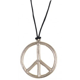 Collier hippie argent adulte