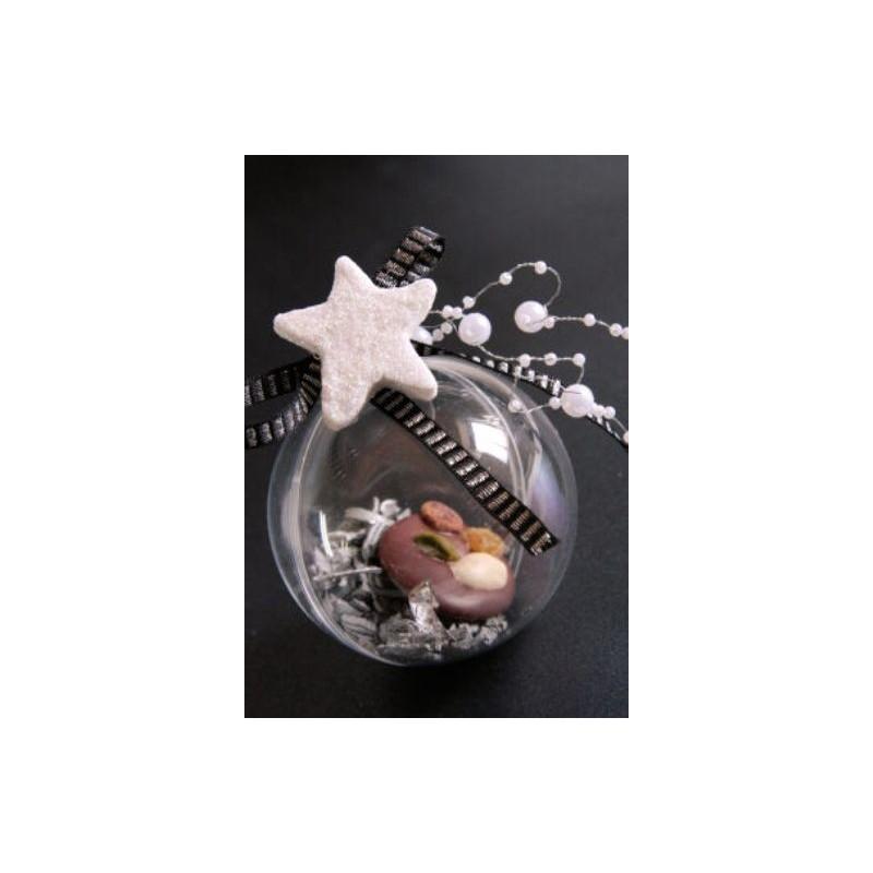 Boule transparente 8 cm boule plexi boule plastique - Boule plastique transparente ...