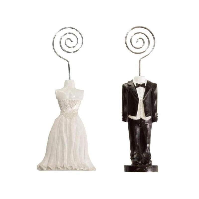 Porte nom mariage couple de mari s - Porte nom de table fait main ...