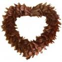 Coeur Chocolat en Plumes 38 cm