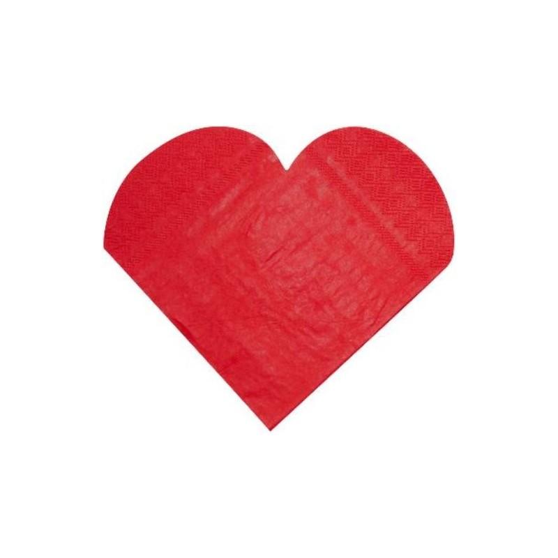 serviettes de table coeur rouge serviette coeur en papier. Black Bedroom Furniture Sets. Home Design Ideas