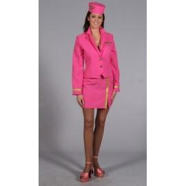 Déguisement Hôtesse de L'Air Pink Luxe Femme