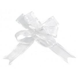 Mini noeuds organdi blanc 16 mm les 5