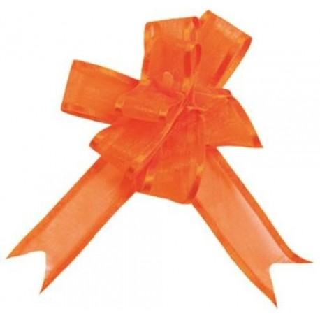 Mini Noeuds Orange en Organdi Les 5