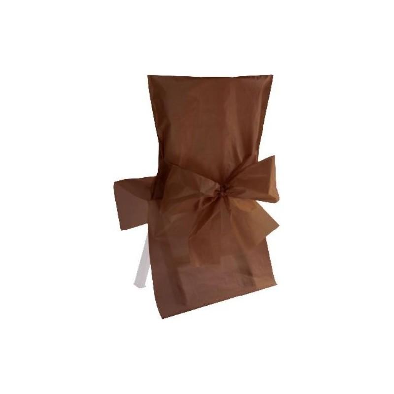 housse de chaise satin couleur avec noeud satin chic les 10. Black Bedroom Furniture Sets. Home Design Ideas