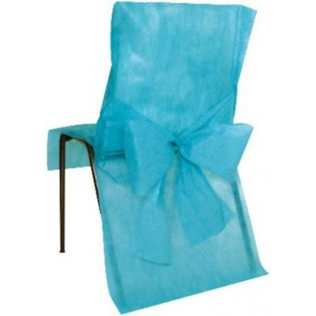Housses de Chaise Turquoise Intissé Uni Les 10