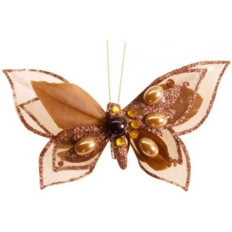 Papillons Opéra Chocolat Sur Pince Les 4