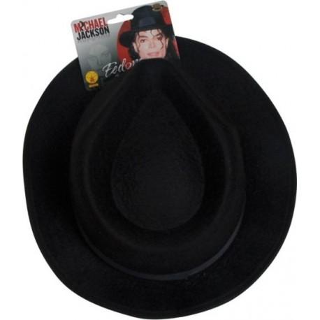 Chapeau Michael Jackson Fedora Noir Adulte