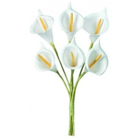 Arum Blanc en Tissu Les 24 Fleurs Arum Calla