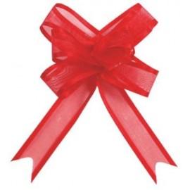 Noeuds Rouge en Organdi Les 5 Mini Noeud