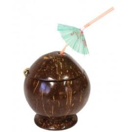 Coupe Noix de Coco Avec Paille Parasol