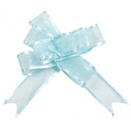 Mini noeuds organdi bleu ciel 16 mm les 5