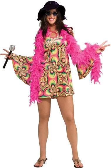 D guisement hippie femme d guisement hippie adulte avec chapeau ann es 70 - Deguisement femme annee 70 ...