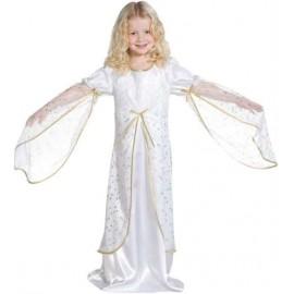 Déguisement Ange Blanc étoiles or enfant fille