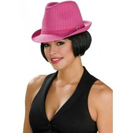 Chapeau borsalino Fedora rose femme