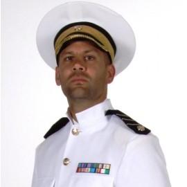 Casquette Officier Blanche Deluxe Adulte
