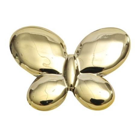 Perle papillon or metallise brillant festif