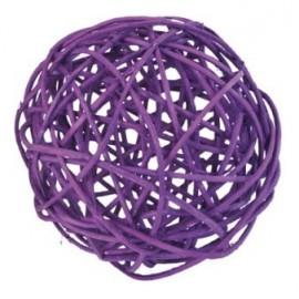 Boules rotin prune 9 cm decoration naturelle