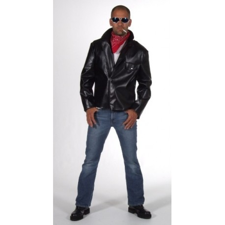d guisement veste biker grease homme luxe ann es 60 80. Black Bedroom Furniture Sets. Home Design Ideas